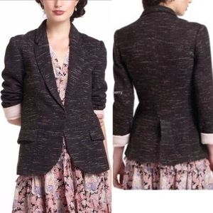 Cartonnier Dashes Knit Blazer In Charcoal